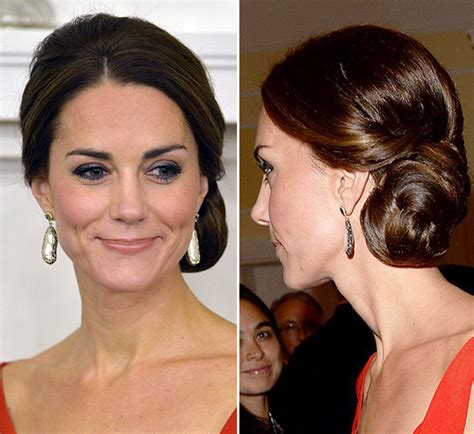 hairstyles in canada pics kate middleton rocks updo bun hairstyle stuns at