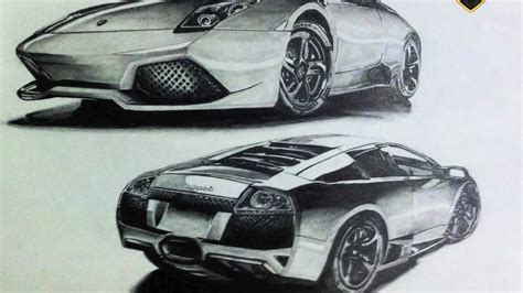 lamborghini car drawing car drawing lamborghini murcielago youtube