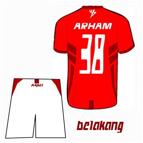 desain baju bola depan belakang arhamgusdiar contoh desain baju