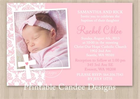 free invitation card creator free christening invitation