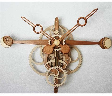 woodworking clock kits free wooden clock plans with wooden gears woodworking