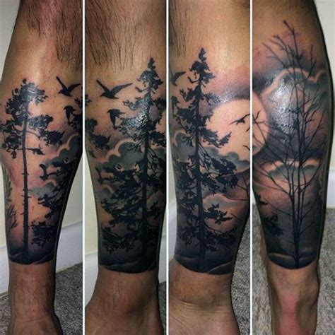 lower leg sleeve tattoo designs 100 forest designs for masculine tree ink