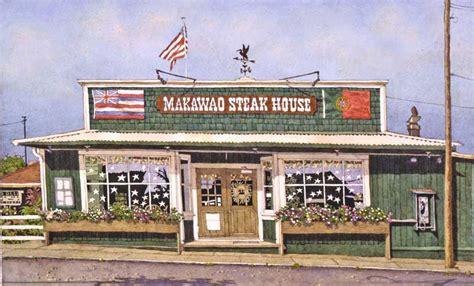 Makawao Steak House By Artist Eddie Flotte