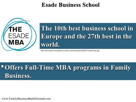 Top Ranked Mba Programs In Europe by 5 Top Business Schools Offering Family Business Programs
