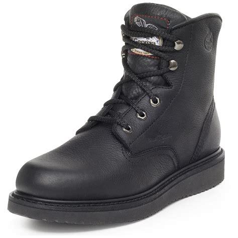 s 174 wedge work boots black 186248 work