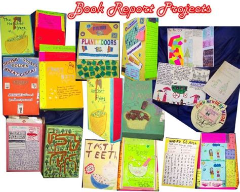 Creative Book Reports For 6th Graders by Reading Carlin Liborio