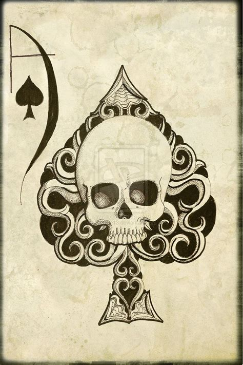 skull cards tattoo designs the world s catalog of ideas