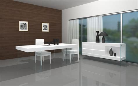 basing rooms modern white dining table