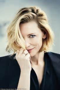 Get The Look Cate Blanchetts Feathered Tresses 2 by Cate Blanchett Covers Rhapsody Magazine And Talks About