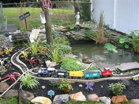 crazy backyard ideas toy train around a pond garry and sarah are going to go