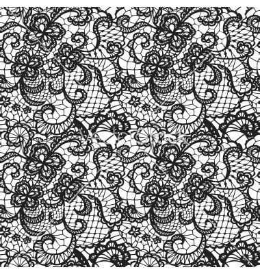 lace pattern sketch lace seamless pattern with flowers vector 1691310 by