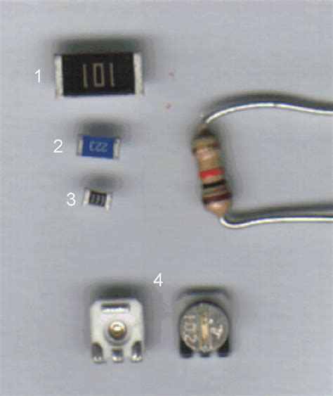 surface mount led with integrated resistor component identification
