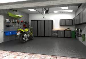 Garage Organization Design just needs a work table and a lift to complete this garage