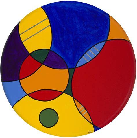 abstract paintings with circles circles abstract 1 by patty vicknair