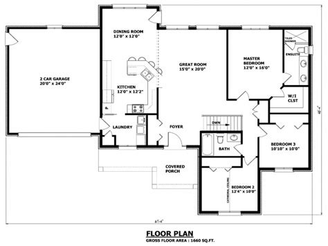 Simple Bungalow Floor Plans | simple small house floor plans bungalow house plans