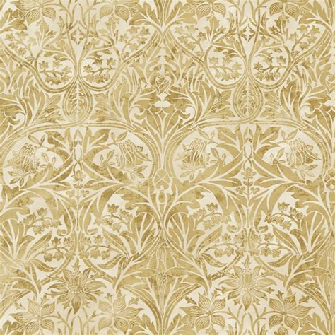 gold indian pattern gordon smith malvern ltd william morris bluebell gold
