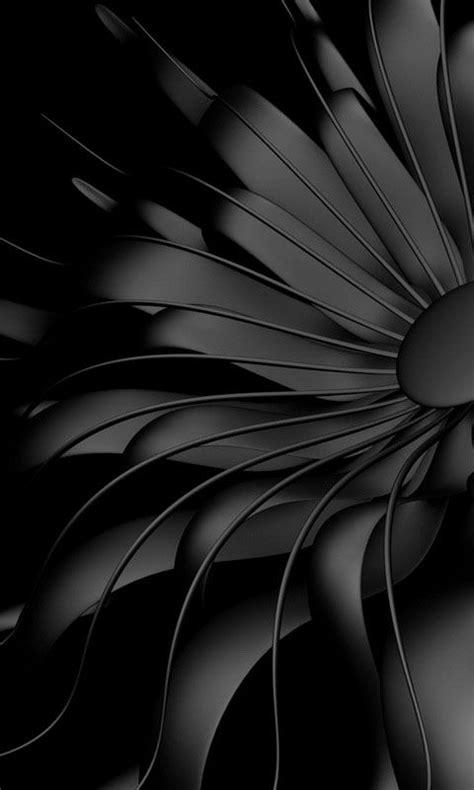 black flower cell phone wallpaper