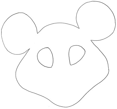 mouse template mouse mask template