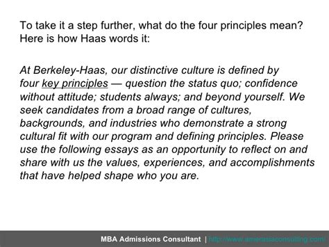 Haas Mba Values by Breaking The 2012 Answers For Haas