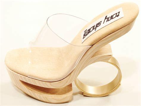 Wedges Loly tony shoes loly wood platform wedge sandal clear beige ebay