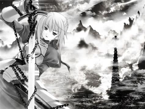 imagenes anime en blanco browse fate stay night wallpapers minitokyo