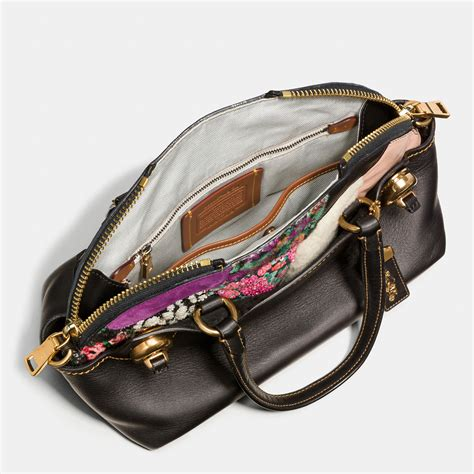 Pink Patchwork Coach Purse - coach outlaw satchel 36 in embellished patchwork leather