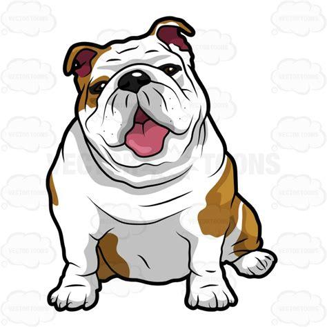 Drawn Bulldog Funny Cartoon Pencil And In Color Drawn