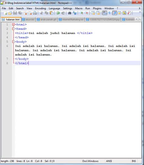 pengertian layout halaman contoh script html halaman web contoh aoi