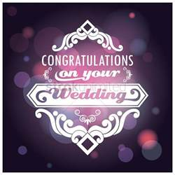 Congratulations On Your Wedding Cards Congratulations On Your Wedding Card Vector Image 1710365 Stockunlimited