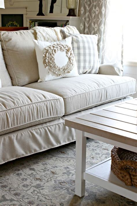 our new sofa birch lane montgomery slipcovered sofa