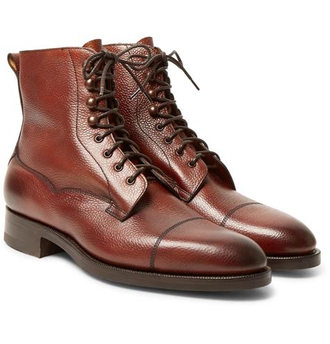 edward green boots lyst edward green galway cap toe pebble grain leather