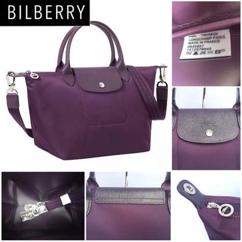 Original Longch Le Pliage Neo Sling Hobo Bag Brand New And Authentic Longch Le Pliage Neo Bilberry