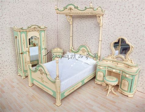 miniature dollhouse bedroom furniture 1 12 dollhouse miniature bed belmont blue hand painted