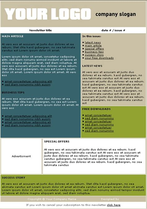 template newsletter free free newsletter templates make newsletters