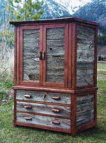 rustic barnwood armoires entertainment centers and