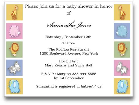 Baby Shower Templates For Wonderful Parties For Children Baby Shower Decoration Ideas Baby Shower Downloadable Templates