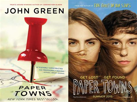 Green Paper Towns paper towns and book differences time