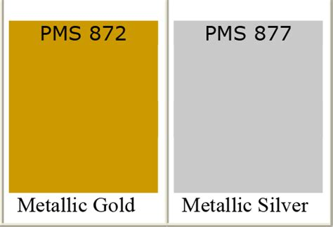 gold color number pantone silver inks printing and silver foil of