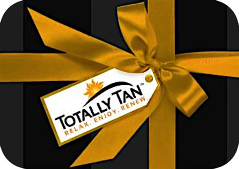 Tanning Gift Cards - totally tan gift cards totally tan