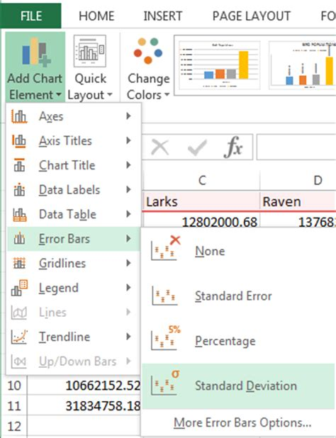 adding error bars to charts in excel 2013 nathan brixius add error bars standard deviations to excel graphs