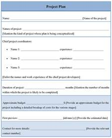 Project Plan Templates Free by Plan Template For Project Format Of Project Plan Template
