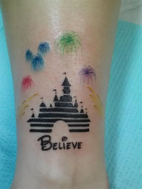 disney castle tattoo t g i f pic of the week disney tattoos part two