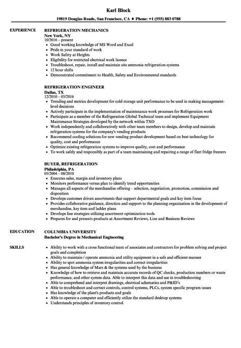 refrigeration design engineer job description refrigeration engineer cv template image collections