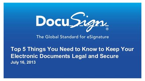 Top 5 Items To Keep In Your Closet For 08 by Docusign Eoriginal Webinar Top 5 Things You Need To
