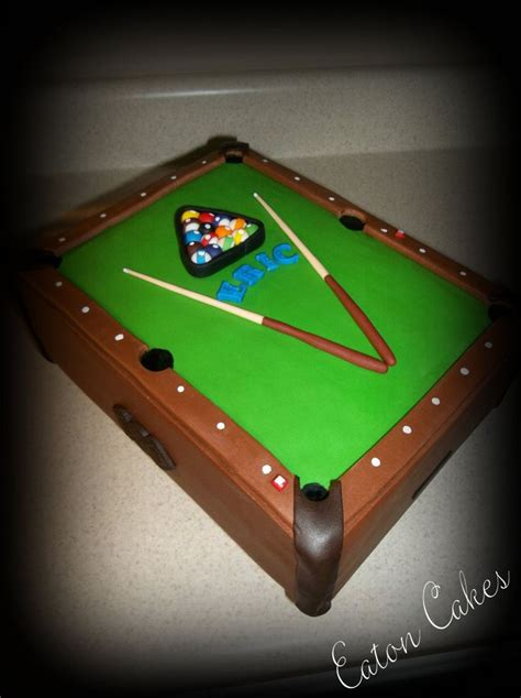 25 best ideas about pool table cake on pool