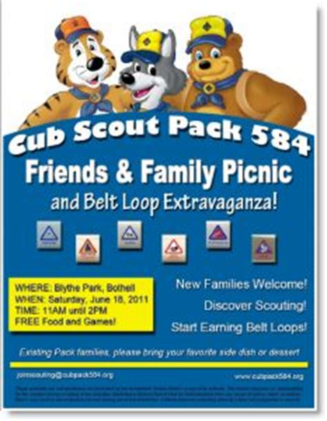 1000 Images About Cub Picnic On Pinterest Picnic Invitations Picnic Parties And Picnics Scout Flyer Template