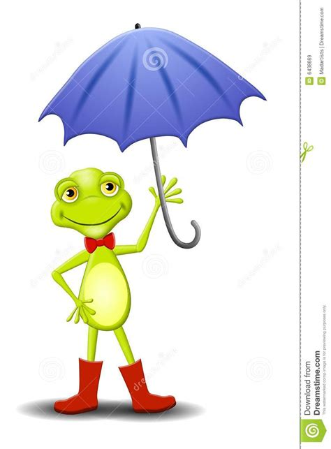 frog pattern umbrella happy frog holding umbrella royalty free stock images