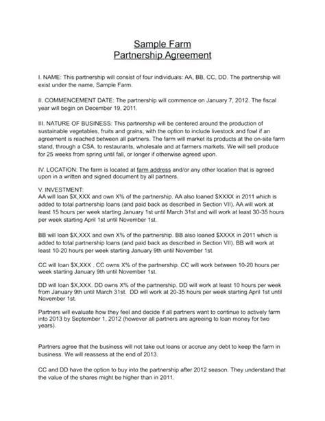 Partnership Agreement Template California Or Domestic Partnership Agreement Partnership Agreement Template California