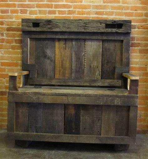 front entrance storage bench barn wood entry bench with storage via etsy diy