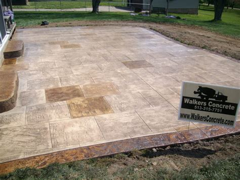 How To Up A Concrete Patio by Walkers Concrete Llc Sted Concrete Patterns